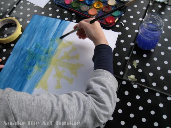 Śnieg malowanie Z
