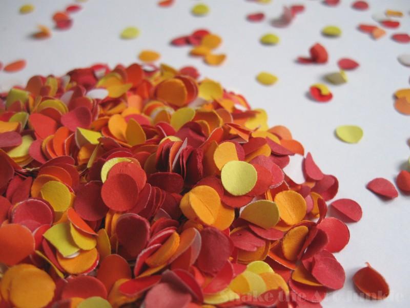 Orange confetti