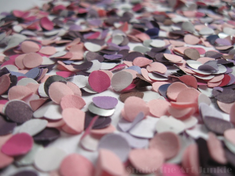 Violet confetti